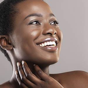 woman smiling, cosmetic dentistry baytown tx