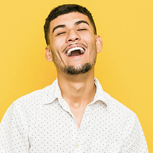 man smiling with open mouth, general dentistry baytown tx