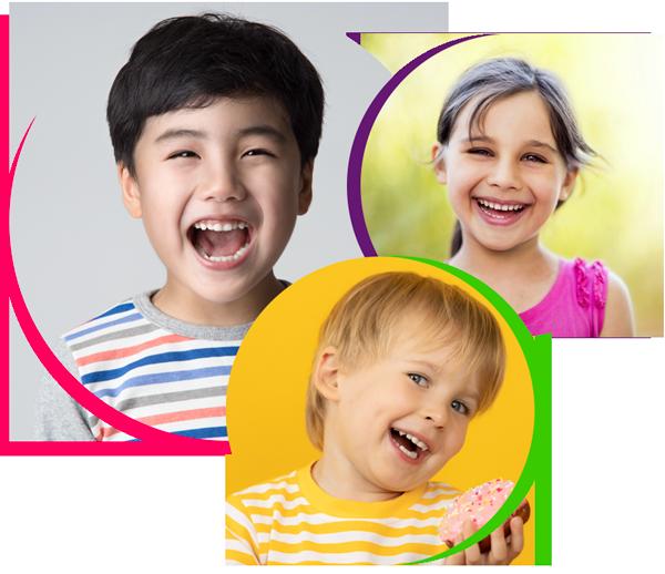 three children smiling, pediatric dentistry baytown tx